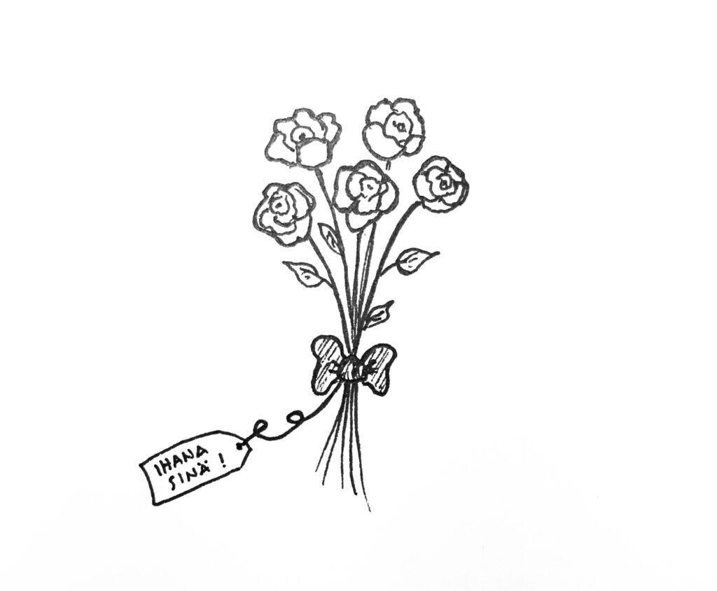 Kukkakimppu, ihana sinä
